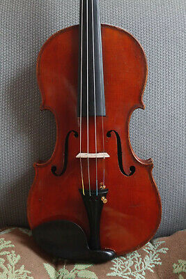 """Beautiful Old 4/4 violin Branded And labeled """"Heinrich Th. Heberlein Jr. 1911"""""""