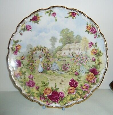 "Royal Albert  'Old Country Roses Garden' 8"" Plate ~ 2nd Quality"