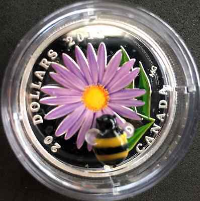 Canada 2012 $20 Fine Silver Aster with Murano Venetian Glass Bumble Bee
