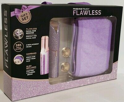 Finishing Touch Flawless Women's Facial Hair Remover Gentle & 2 Replacement Head
