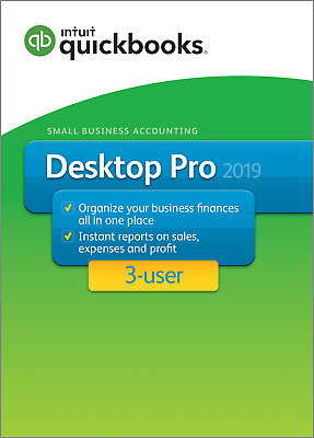 QuickBooks Pro 2019  ( 3 User ) – Downloadable or CD