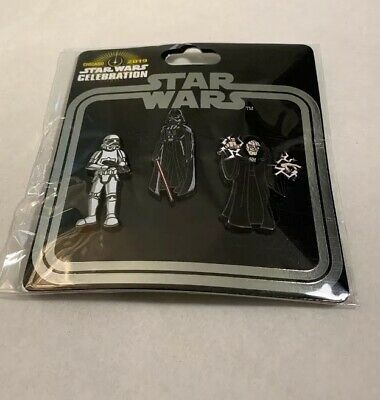 Star Wars Celebration Chicago 2019 - TRADING PIN SET - Empire (3 pack)official
