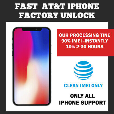 UNLOCK SERVICE AT&T CODE ATT for IPhone 5 5S 6 6s SE 7 8 X XS 11