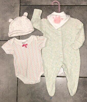 Mini Club Baby Girls Floral Sleepsuit 0-3 M (up to 4.5kg/10lbs)