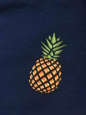 F52 BNWT LuLaRoe Tween Navy with PINEAPPLES! Psych Fan Must Have!