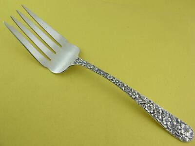 "Sterling S KIRK & SON CO 8 1/2"" Meat Serving Fork REPOUSSE 925/1000 138C NoMono"