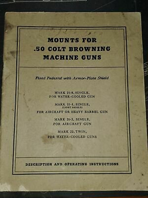 WWII Mounts for .50 Colt Browning MG's Dated 1945