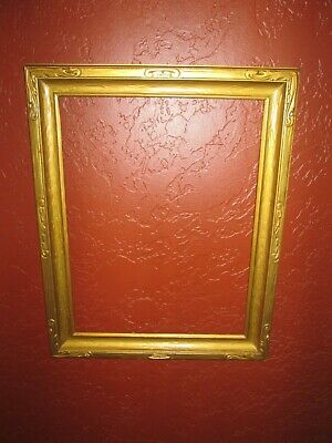 "antique gold Deco Newcomb Macklin style picture frame carved wood 17 "" x 13"""