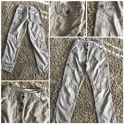 girls trousers by primark age 11-12 years grey 100% cotton used