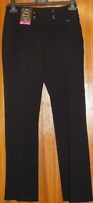 Brand new girls Florence and Fred black boot cut school trousers age 11/12