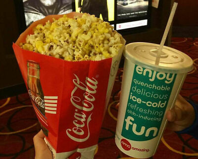 AMC Theaters One Large Drink & One Large Popcorn Voucher exp 12/31/2020