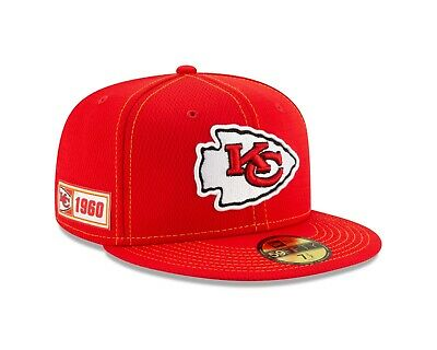 Kansas City Chiefs New Era 2019 NFL Sideline Road 59FIFTY Fitted Hat - Red