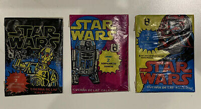 Star Wars Mexican Topps  1977 Wax Packets Series 1, 2 & 3 Full Sealed
