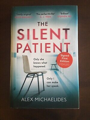 THE SILENT PATIENT by Alex Michaelides, SIGNED Hardcover, UK Edition 1st/1st