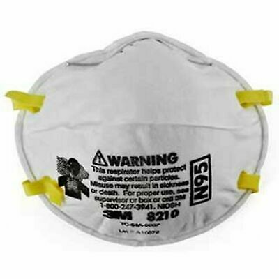 3M N95 particulate respirator 8210 P2 smoke protection face mask 10 pack