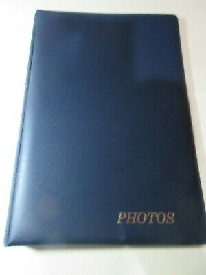 Cumberland FM79 Blue Refillable Photo Album new with 10 inserts holds 6 x 4
