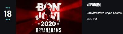 1-3 Tickets For Bon Jovi And Bryan Adams At The Forum (Inglewood) On 6/18/20