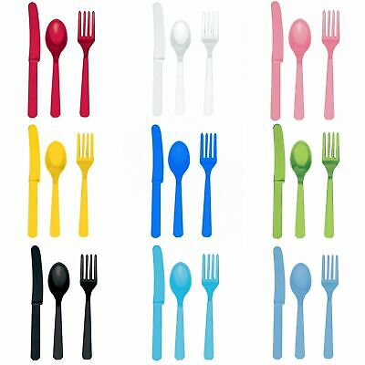 Amscan Plastic Party Cutlery Set (Knives, Forks & Spoons) (Set Of 24) (SG5908)