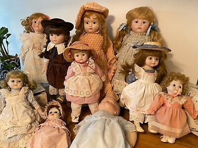 Porcelain Doll Collection – Hillview Lane x 8 (+ 2 other vintage)