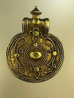 Antique Islamic Seljuk Dynasty  21 K Solid Gold Pendant 11 - 12 Century AD