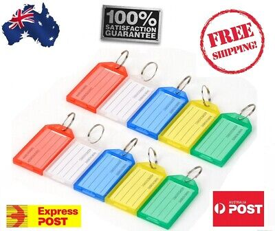 10 Key Ring Indicate Luggage Tag ID Label Travel Suitcase Identity Name Card fob