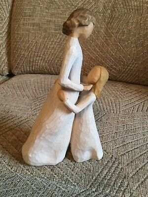 """Willow Tree Figurine Of Mother and Daughter- Named Hat And Standing 8"""" High"""