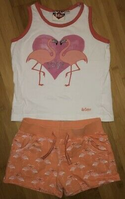 Lee Cooper Girls Summer Outfit 5-6 Years Flamingo Print