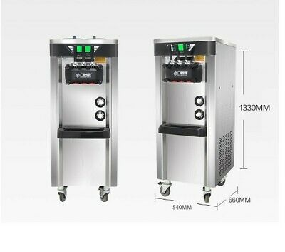 new 3 flavour stainless commercial ice cream/soft serve/cone machine maker