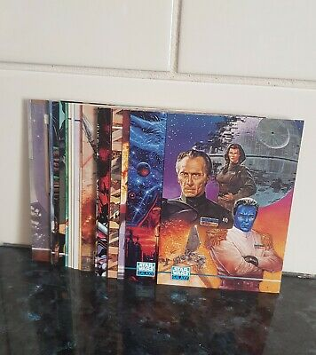 """Lot of 1995 Lucasfilm """"Star Wars Galaxy Series 3"""" Trading Cards Part Set Mint"""