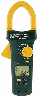 Greenlee True RMS Clamp Meter CM-1550 AC/DC 1000 Amp 9 Function $550 Retail