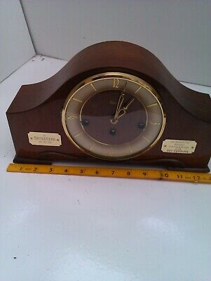 An Old Westminster Chime Mantel Clock In Full Working Order