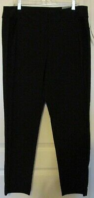 Alfani Womens Black Velvet Stripe Pull On Skinny Leg Pants Plus 16W NWT