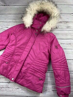 £250 Poivre Blanc Pippa Girls Ski Jacket In Poppy Pink Size 7 years, barely worn