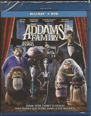 THE ADDAMS FAMILY BLU-RAY + DVD COMBO ANIMATED Charlize Theron NEW 2019/2020