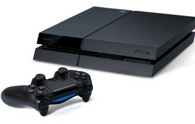 Sony Ps4 500Gb Playstation 4 Jet Black Console + Controller Bundle