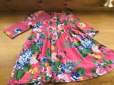 Joules Girls dark Pink Floral  Dress Age 5 Years