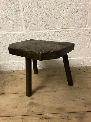 Antique English Vernacular Cutlers Stool 19th Century, Beautiful Example