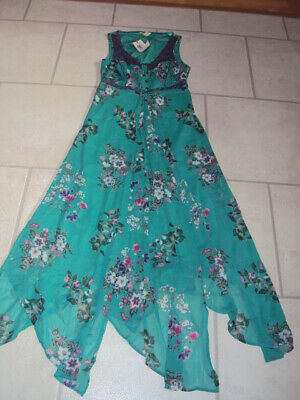 Bnwt Marks & Spencer (M&S) Indigo Collection Green Floral Maxi Dress, Size 10
