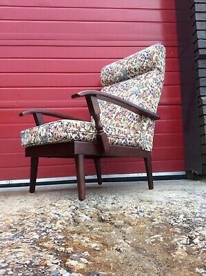 Vintage Mid Century Arm Chair, Retro Upcycling Project, Antique Collectable