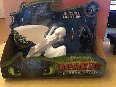 Lightfury & Hiccup Action Figures Toy How to Train Your Dragon 3 Hidden World