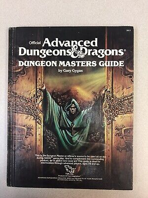 DUNGEON MASTERS GUIDE 1979 TSR Advanced Dungeons & Dragons, Second Cover #2011