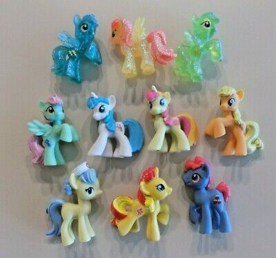 My Little Pony Blind Bag Mini Figures Lot J ~ 10 Ponies  ~ Some Clear & Glitter
