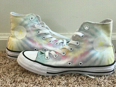 Converse All Star Chuck Taylor Womens Size 6 Shoe Hi-Top Customized Tie Dye