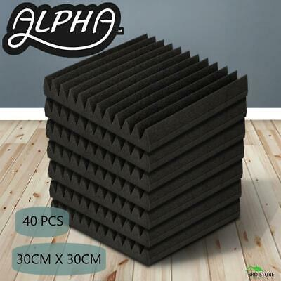 40pcs Studio Acoustic Foam Sound Absorbtion Proofing Panels Tiles Wedge 30X30CM