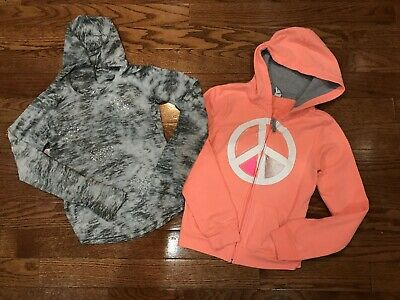 Girls Size 10 Justice Old Navy Shirt Top Hoodie Jacket Kids Lot Clothing Gray