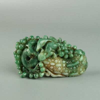 Chinese Exquisite Hand-carved squirrel carving Jadeite jade Pendant