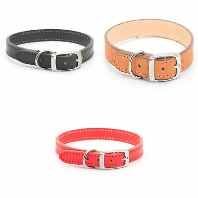 Ancol Heritage Sewn/Half Lined Leather Dog Collar (PD798)