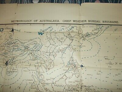 Maps Collectable by Meteorology Chief Brisbane 1921