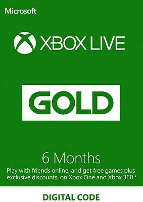 Microsoft Xbox Live Gold 6 Month Subscription (EMAIL DELIVERY)