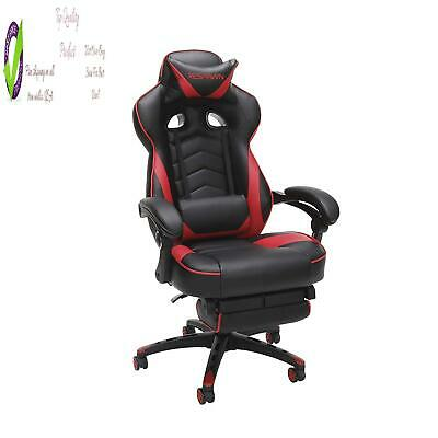 Respawn 110 Racing Style Gaming Chair, Reclining Ergonomic Leather Chair With Fo